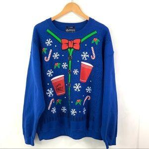 AMERICAN RAG Ugly Christmas Sweater Sweatshirt